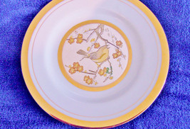 japanese plate Art of Chokin gilded gold and silver - $7.85