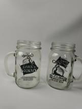 Gosling's Dark 'N Stormy Black Seal Bermuda Black Rum Pint Jar Mugs Set ... - £18.14 GBP