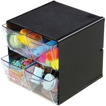 Deflecto 350304 Desk Organizer Cube - 4 Clear D... - $34.41