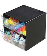 Deflecto 350304 Desk Organizer Cube - 4 Clear D... - $34.41