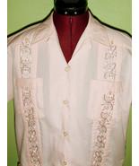 Hot Woman's Vintage Pink Guayabera Shirt Mexica... - $20.00