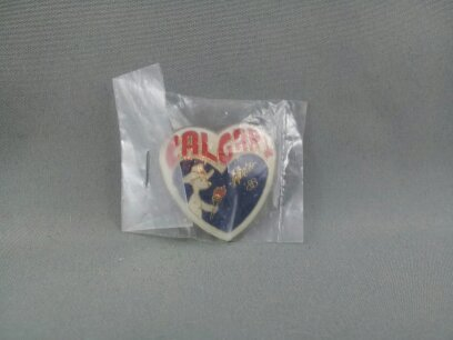 Primary image for 1988 Winter Olympic Games Pin - I Heart Calgary with Mascot - New in Packaging