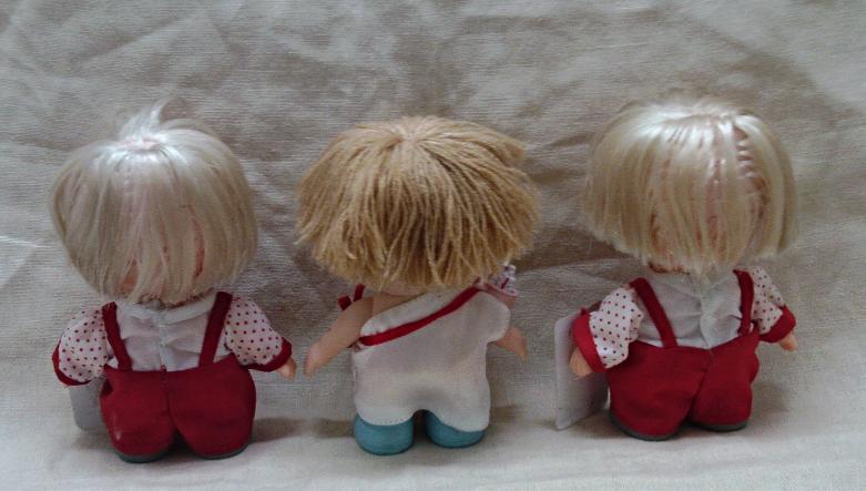 Three Enesco PRECIOUS MOMENTS Hi Babies Valentines Day Dolls
