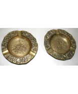 Heavy Round Brass Ash Trays - Lot of 2 - $8.95