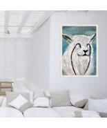 11 X 14 Canvas Panel Original Painting ARCTIC LYNX WILD CAT - $17.70