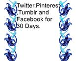 Twitter pinterest tumblr and facebook for 30 days thumb155 crop