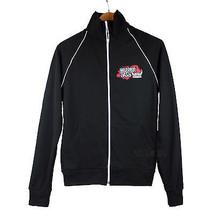 NEW American Apparel California Fleece Black Warrior Dash Track Jacket m... - $29.99
