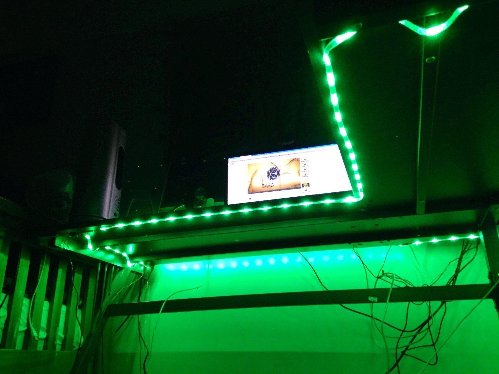 Game gaming desk led 150 lights color select 8ft for Select light