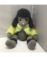Russ Berrie Brigette Gray Poodle Dog Plush Stuffed Animal Soft Toy - $39.99