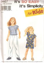 Girls Sizes 2-6X  Pull-On Pants Or Shorts And Top Pattern Simplicity 946... - $3.99