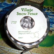 Train Accessories O - Scale  Village Snow Fence  - $4.95