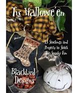 Tis Halloween designs cross stitch booklet Blackbird Designs  - $21.60