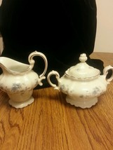 Johann Haviland Blue Garland Creamer and Covered Sugar Bowl. - $12.59
