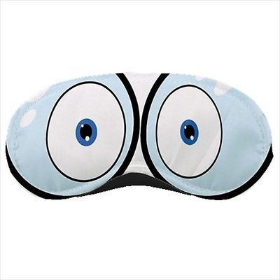Cartoony Googing Eyes Sleeping Mask