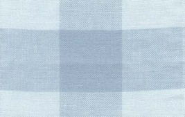 "27ct Woven Checks Lt Ant Blue/Med Ant Blue banding 8.3""w x 18"" 100% linen  - $15.30"