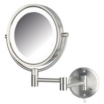 Jerdon HL88NL 8.5-Inch LED Lighted Wall Mount Makeup Mirror with 8x Magn... - $72.99
