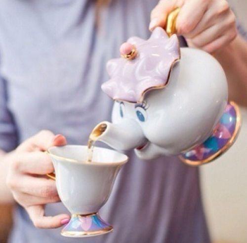 Beauty And The Beast Cartoon Teapot Mug Mrs Potts Chip
