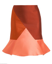SHOWPIECE Ostwald Helgason Structured Double-face Silk Blend Skirt UK 6 ... - $98.00