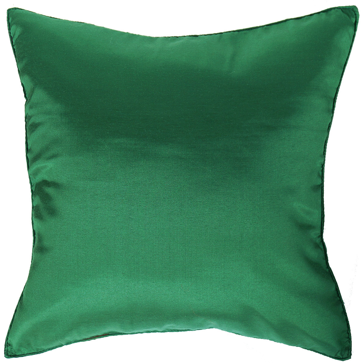 2 CHRISTMAS GREEN Silk THROW Decorative PILLOW COVERS for Sofa Bed Couch 16x16 - Pillows