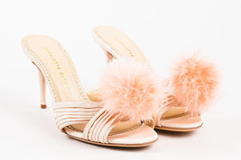 "Charlotte Olympia NWOB Blush Silk Pom Pom ""Coquette Poodle"" Mule Sandals... - €256,16 EUR"