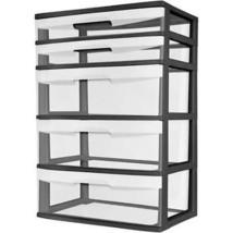 Sterilite 5 Drawer Wide Tower Storage Organizer... - $35.61