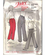 Judes Pattern Pants That Fit OSFA vintage pull on back front zipper basi... - $12.77