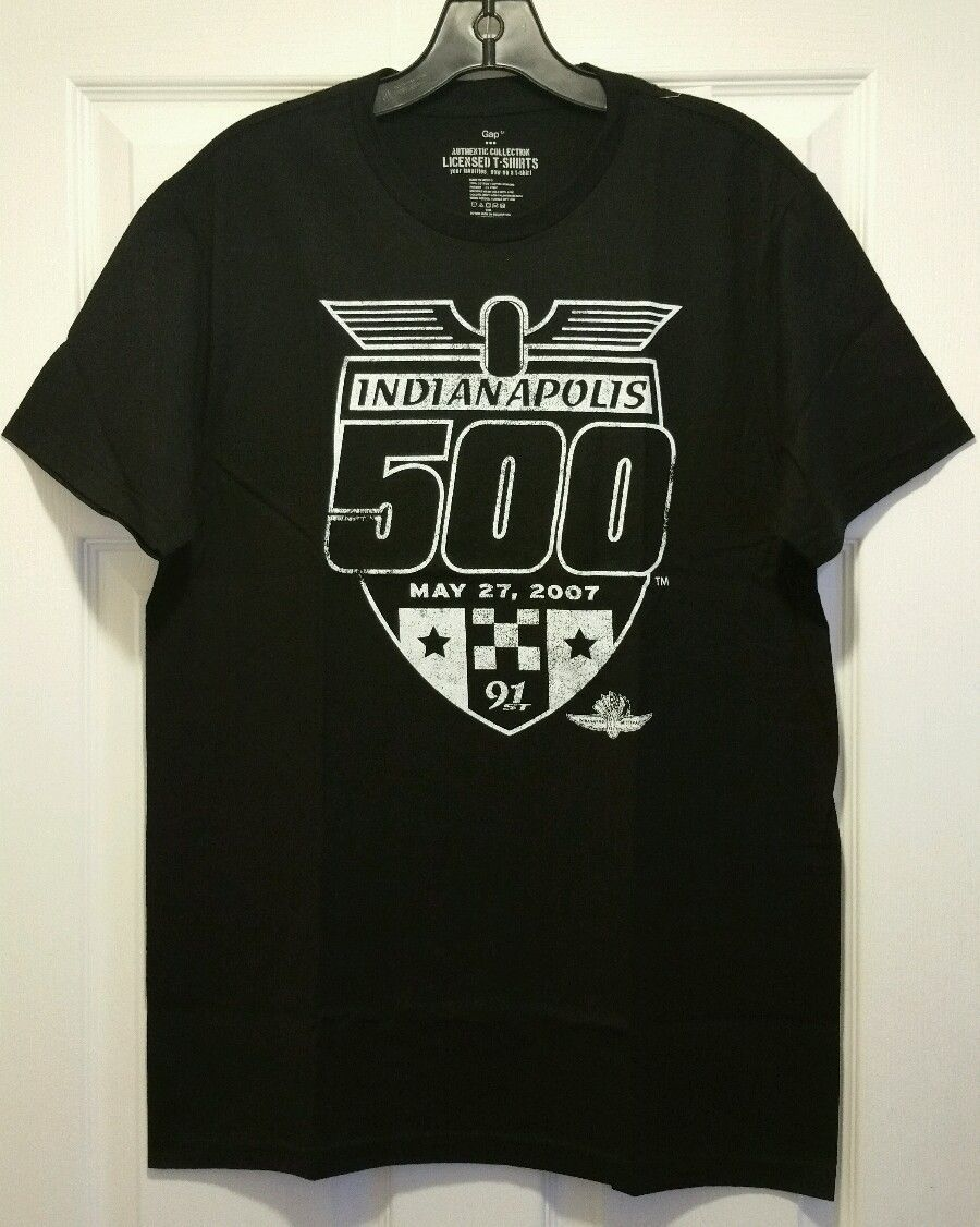 New indianapolis 500 logo adult medium auto racing t shirt for Adult medium t shirt