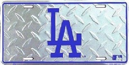 Los Angeles Dodgers MLB Diamond Plate License P... - $8.86