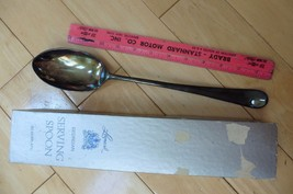 """Vintage Eales Italy 1779 Silverplated Serving Spoon 13"""" w/ Leonard Georg... - $19.86"""