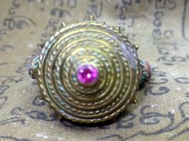 Very Nice! Ancient Brass King's Ring Old-aged Rare Thai Buddha Amulets Size 8 - $29.99
