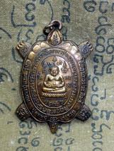 So Rare! Holy Turtle LP Liew Magic Letters Top Pendant Thai Buddha Amulets - $12.99