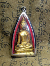 LAST LEFT! Holy Gold Phra Pang-Maravichai Top Protective Thai Buddha Amulets - $19.99