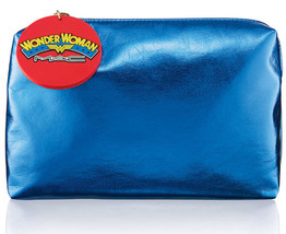 MAC Wonder Woman Bulletproof Blue Makeup Bag Limited Edition!!!Authentic - $158.39