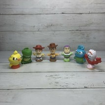 DISNEY PIXAR Fisher Price Little People TOY STORY 7 Lot - Forky Buzz Woo... - $10.37