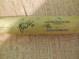 Will Middlebrooks Autographed Game USED Baseball Bat Signed Red Sox WS C... - $559.00