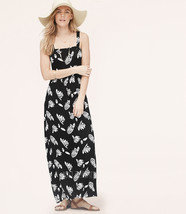 NWT Ann Taylor LOFT Summer Leaf Knit Maxi Beach Long Relax Black Dress S... - $69.99