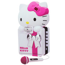 NEW HELLO KITTY CD+G/MP3 Karaoke System Color Camera Recording SD USB Bl... - $99.99