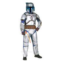 NEW Star Wars Boys Jango Fett Halloween Costume Deluxe M(8-10) 2pc Disgu... - $69.99