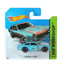NEW 2014 Hot Wheels HW WORKSHOP Blue General Motors Custom V-8 Vega #220... - €12,79 EUR