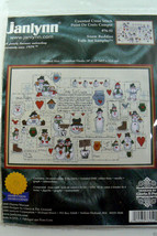 Janlynn Snow Buddies Folk Art Sampler Kit Counted Cross Stitch 76-52 new... - $44.55
