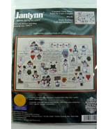 Janlynn Snow Buddies Folk Art Sampler Kit Counted Cross Stitch 76-52 new... - $44.55