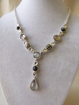 "AVON VTG Silver Plate drop charm necklace 19.5"" adjustable Necklace - $22.28"