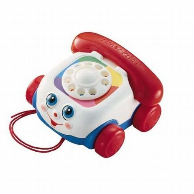 Toy Telephone Kids Classic Pull Vintage Toddler Phone New Style Dial Gift
