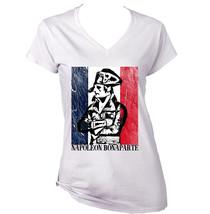 Napoleon Bonaparte 2   New White Cotton Lady Tshirt - $25.68
