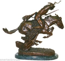 Cheyenne Real Lost Wax Bronze Statue by Remingt... - $399.95