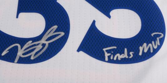 "KEVIN DURANT SIGNED WARRIORS JERSEY INSCRIBED ""FINALS MVP"" #D/135 COA AUTOGRAPH"