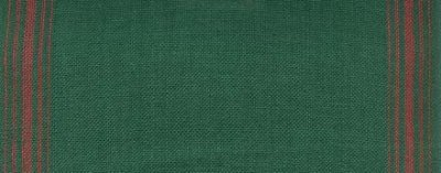 "Primary image for 27ct Ticking Stripe Green/Red banding 8.7""w x 18"" (1/2yd) 100% linen Mill Hill"