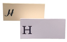 Large H - 50 Monogrammed place cards white or ivory block or script font - $11.95