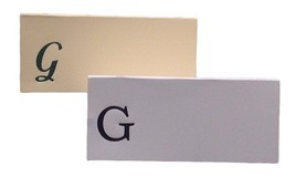 Large G - 50 Monogrammed place cards white or ivory block or script font - $11.95