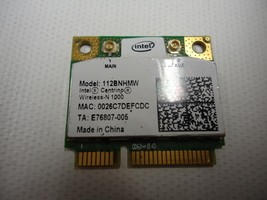 Intel 112BNHMW E76807-005 Centrino Wireless-N 1000 300 Mbps Mini PCI-E Card - $5.69